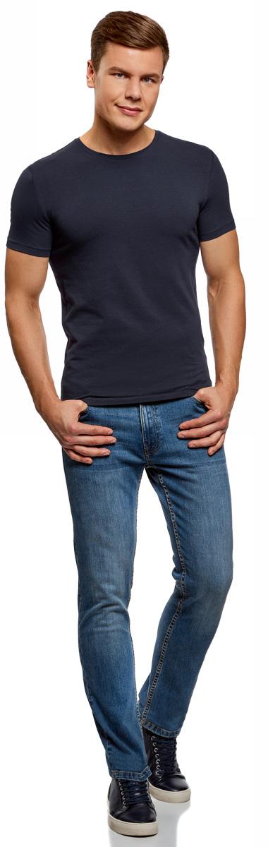 Футболка мужская oodji Basic, цвет: черный, темно-бордовый, темно-зеленый, 3 шт. 5B611004T3/46737N/1908N. Размер XL (56)5B611004T3/46737N/1908NМужская базовая футболка от oodji выполнена из эластичного хлопкового трикотажа. Модель с короткими рукавами и круглым вырезом горловины. В комплекте 3 футболки.
