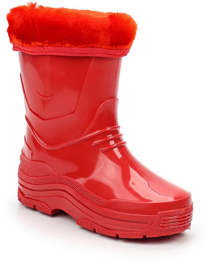 Сапоги резиновые для девочки Каури, цвет: красный. 495 У. Размер 30495 УСапожки детские из ПВХ утепленные.