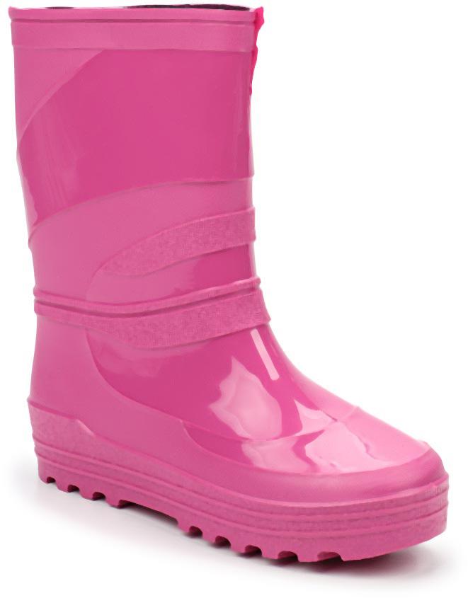 Сапоги резиновые для девочки Каури, цвет: розовый. 499-18. Размер 36499-18Сапоги подрастковые из ПВХ.