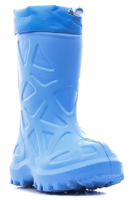 Сапоги резиновые для мальчика Каури, цвет: голубой. 491 НУ. Размер 29/30491 НУРезиновые сапоги Каури - идеальная обувь в холодную дождливую погоду для вашего ребенка. Сапоги выполнены из качественной резины и оформлены декоративным тиснением. Подкладка и стелька из ворсина обеспечат комфорт. Текстильный верх голенища регулируется в объеме за счет шнурка со стоппером. Подошва с рифлением обеспечивает отличное сцепление на любой поверхности.