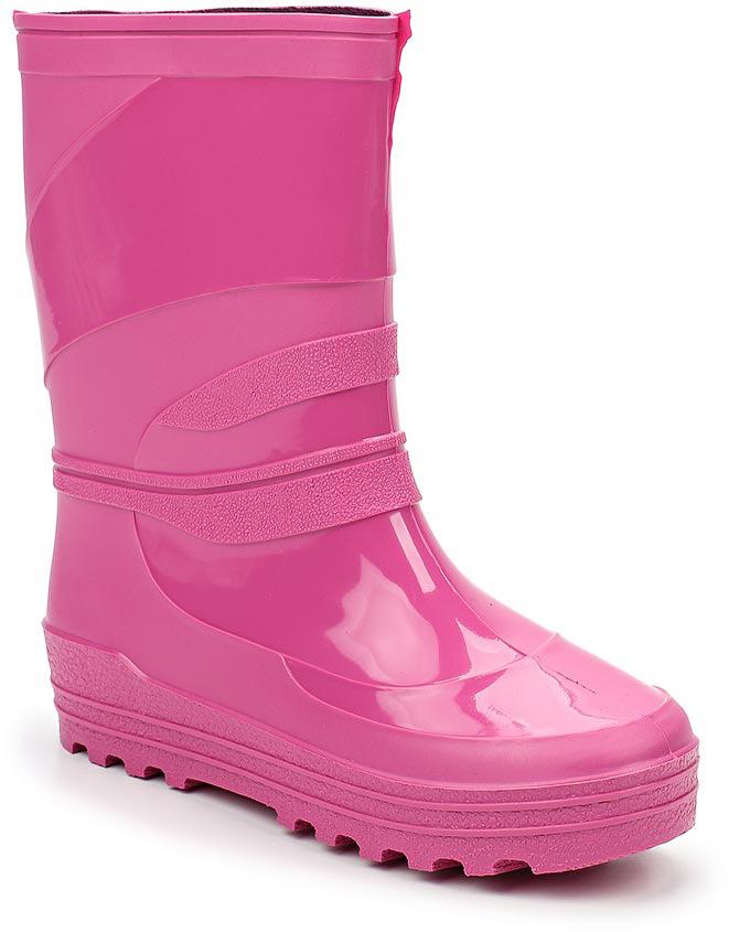 Сапоги резиновые для девочки Каури, цвет: розовый. 499. Размер 32499Сапожки школьные из ПВХ.