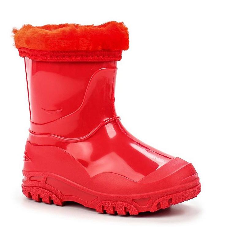 Сапоги резиновые для девочки Каури, цвет: красный. 702 У. Размер 22702 УСапожки детские из ПВХ утепленные.