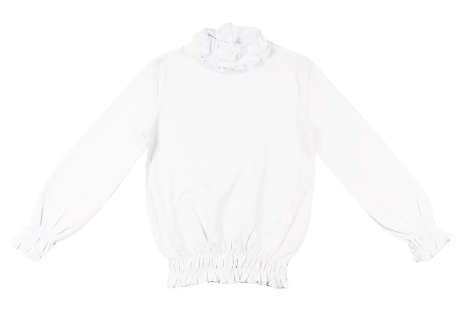 Водолазка для девочки Cherubino, цвет: белый. CAJ 61377. Размер 128CAJ 61377Водолазка для девочки, из хлопкового трикотажа, горловина и рукава собранны на мелкую трикотажную резинку.