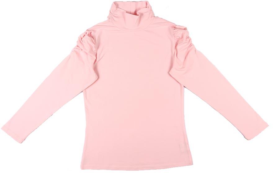 Водолазка для девочки Cherubino, цвет: светло-розовый. CAJ 61387. Размер 140CAJ 61387Водолазка для девочки Cherubino выполнена из хлопка с эластаном. Модель с длинным рукавом и воротником-стойкой выполнена в лаконичном дизайне. Горловина и верх рукава оформлены декоративной сборкой.