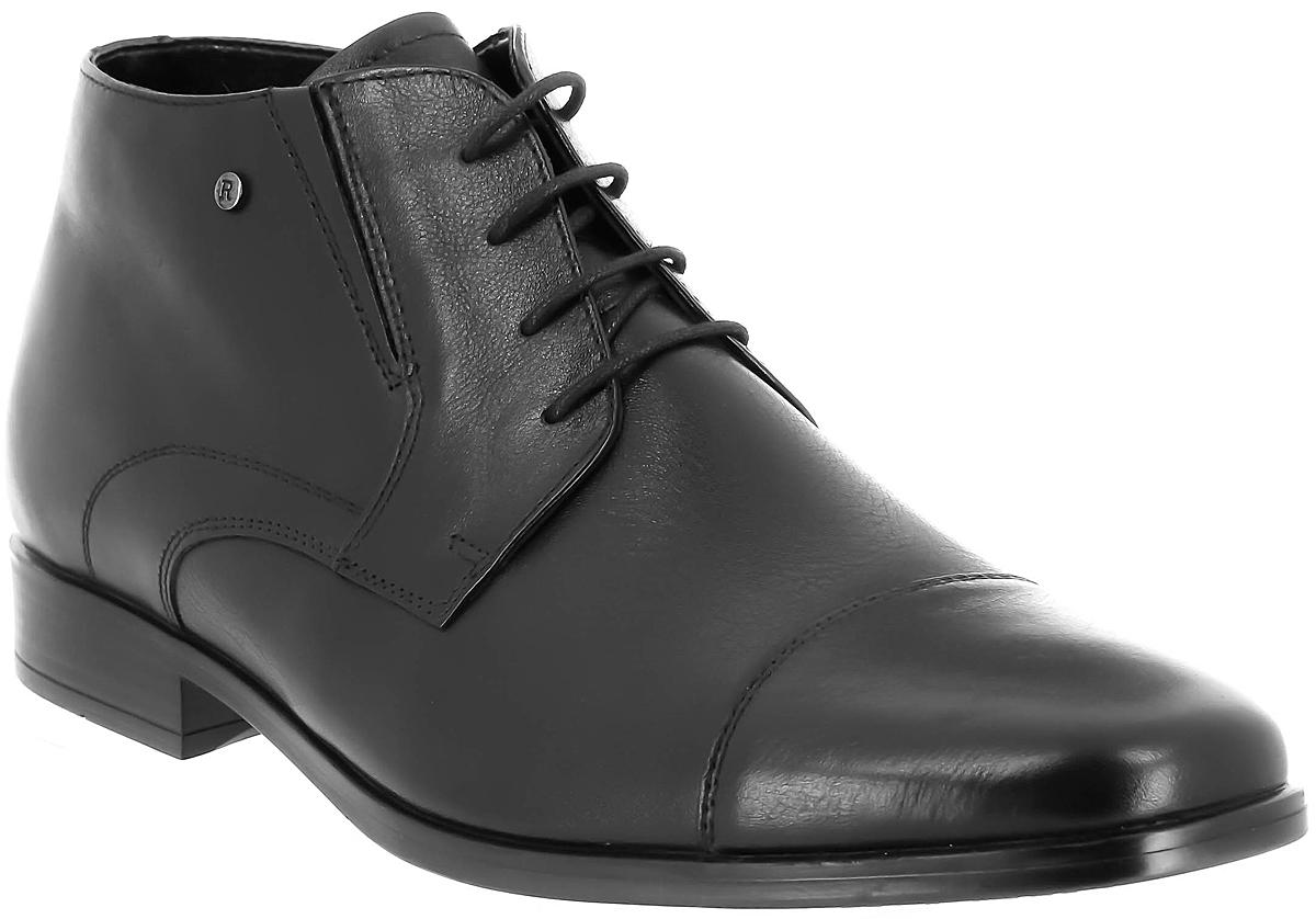 Ботинки мужские Ralf Ringer Saimon, цвет: черный. 589305ЧН. Размер 45589305ЧНУдобные ботинки классического цвета созданы для современных мужчин. Модель из натуральной кожи дополнена функциональной шнуровкой в тон. Подкладка из шерсти подарит комфортный воздухообмен и защитит ноги от первых холодов. Пара декорирована элегантной прострочкой.