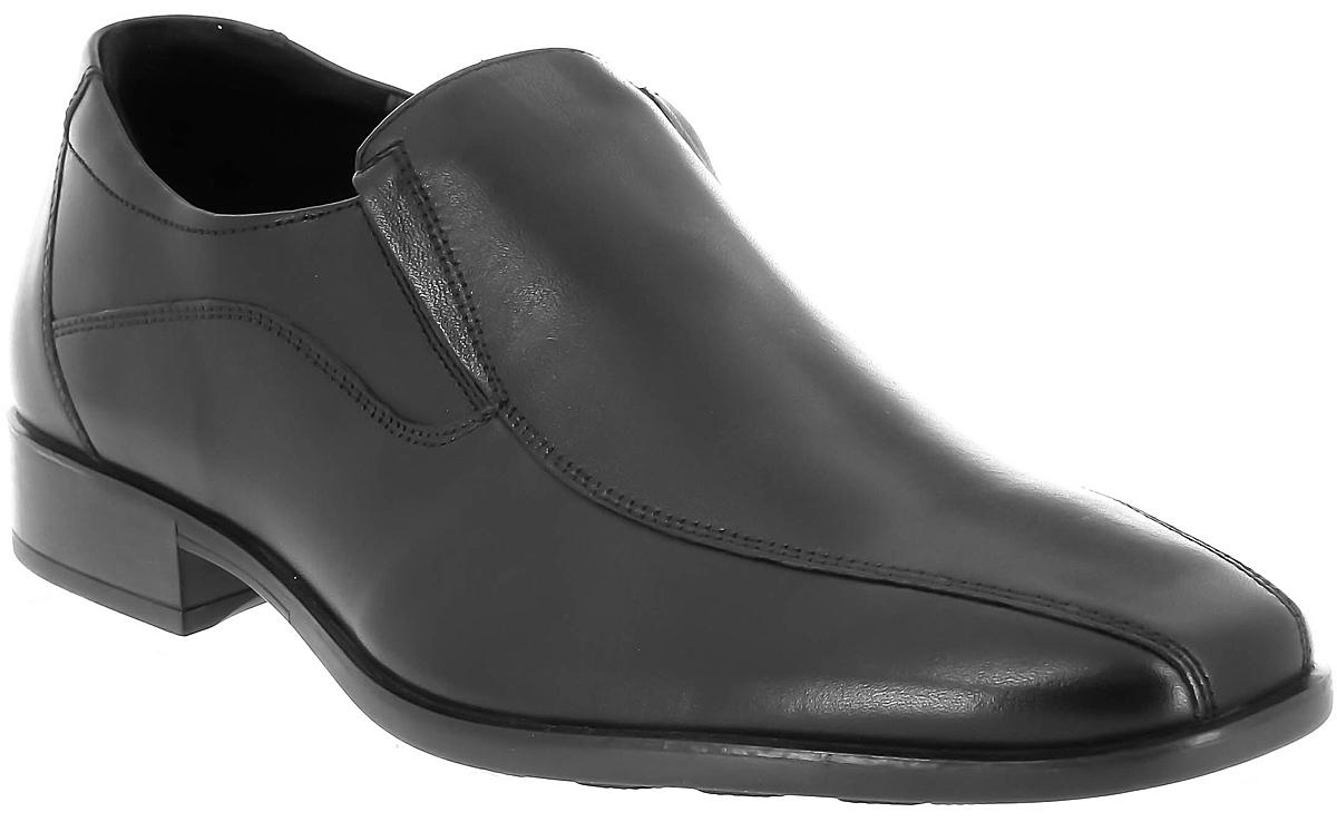 Лоферы мужские Ralf Ringer Ernest, цвет: черный. 524102ЧН. Размер 40524102ЧНМужские лоферы Ernest линии Business — обувь, которая способна украсить гардероб делового человека, считающего себя идущим в ногу со временем. Элегантные линии, натуральная кожа, классические фасон и цвет, хорошо замаскированная надежная резинка делают эту модель не только соответствующей дресс-коду, но и очень практичной. Бесподобно сочетаются с джинсами.