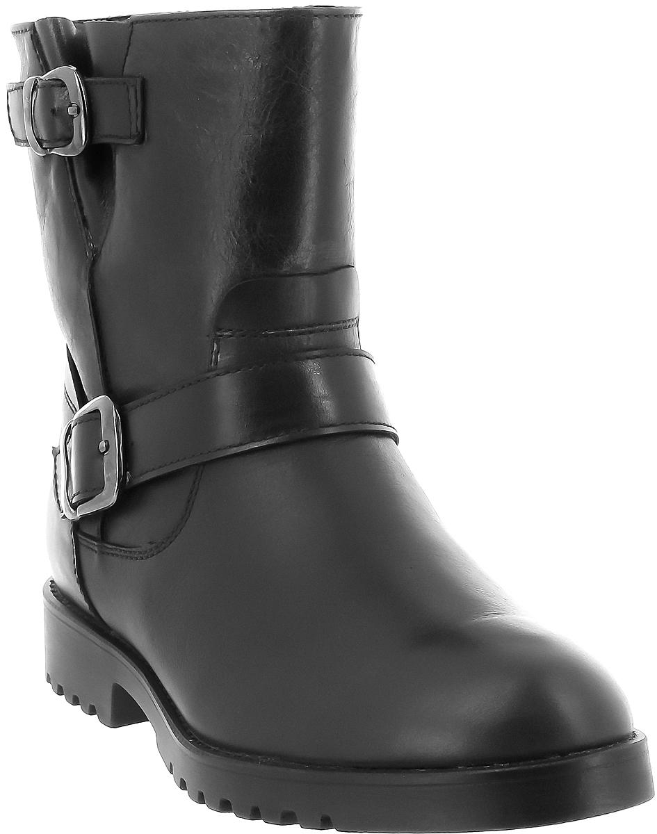 Полусапоги женские Ralf Ringer Brenda, цвет: черный. 959205ЧНЧ. Размер 38959205ЧНЧКлассические полусапоги с увеличенной полнотой стопы выполнены из высококачественной натуральной кожи. Подкладка - натуральный мех. С внутренней стороны имеется молния, что позволяет легко снимать и надевать обувь. Фурнитура в виде ремешков придает данной паре шарм.