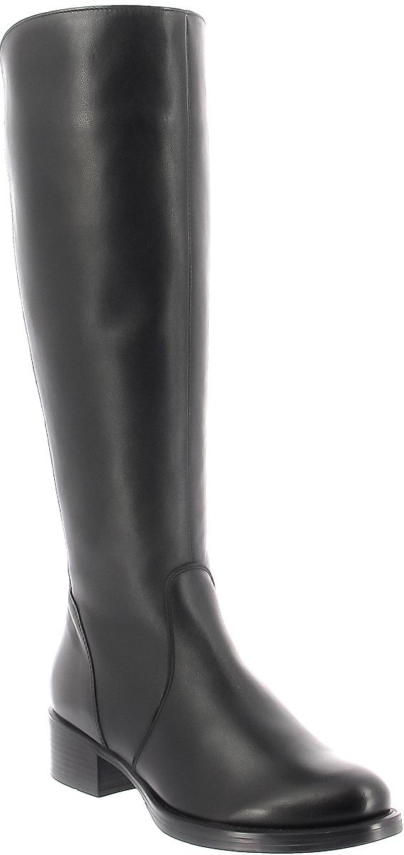 Сапоги женские Ralf Ringer Now, цвет: черный. 954402ЧН. Размер 39954402ЧНОбладательница этой пары сапог точно не останется без внимания. Данная модель идеально подойдет на осенний или весенний период. Натуральная кожа, стильный цвет и устойчивый каблук – важные достоинства этой пары. Сапоги отлично впишутся в ваш гардероб и украсят любой, даже самый простой образ.