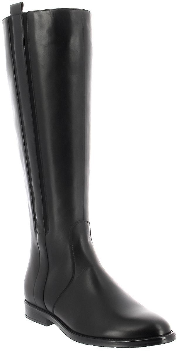 Сапоги женские Ralf Ringer Stella, цвет: черный. 967409ЧН. Размер 40967409ЧНЖенские сапоги от Ralf Ringer выполнены из натуральной кожи. Модель на ноге фиксируется при помощи молнии. Подкладка и стелька из текстиля гарантируют комфорт при носке. Гибкая и легкая подошва, выполненная из ТЭП-материала, долговечна и обеспечивает высокую устойчивость к деформациям.