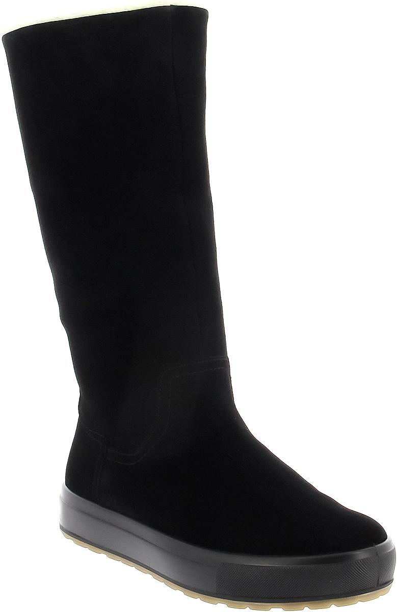 Сапоги женские Ralf Ringer Sheila, цвет: черный. 991305ЧВЧ. Размер 39991305ЧВЧСапоги из линии Weekend - прекрасное решение для повседневной носки в холодное время года. Модель выполнена из натуральной кожи (спилка) практичного цвета. Верх украшен отворотом из меха контрастного цвета. Благодаря простому дизайну модель позволяет создавать самые разные образы.