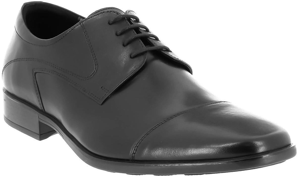 Туфли мужские Ralf Ringer Ernest, цвет: черный. 524104ЧН. Размер 42524104ЧНТуфли Ernest в составе линии Business — обувь, без которой гардероб делового человека не сможет считаться укомплектованным. Элегантные линии, натуральная кожа, классические фасон и цвет, шнуровка в 4 ряда делают эту модель полностью соответствующей дресс-коду. Великолепно сочетаются с практически любым костюмом базового цвета.