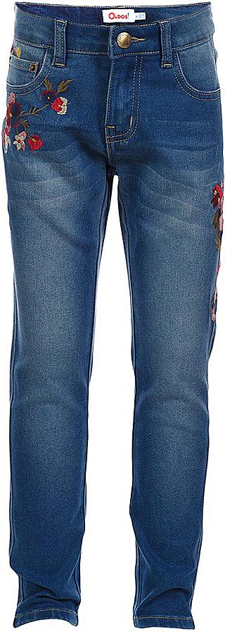 Джинсы для девочки Oldos Лилу, цвет: синий. 6O7JN03. Размер 140, 10 лет6O7JN03Стильные джинсы Oldos Лилу идеально подойдут вашей девочке. Благодаря эластану и зауженному крою джинсы хорошо садятся по фигуре.Пояс на пуговице, гульфик на молнии. На поясе есть шлевки для ремня. По талии джинсы регулируются внутренней перфорированной резинкой. Спереди и сзади есть карманы. Модель украшена декоративной вышивкой в виде цветов. Джинсы идеально подходят для повседневной носки.Оригинальный современный дизайн делает эти джинсы модным и стильным предметом детского гардероба. В них ваша маленькая принцесса всегда будет в центре внимания!