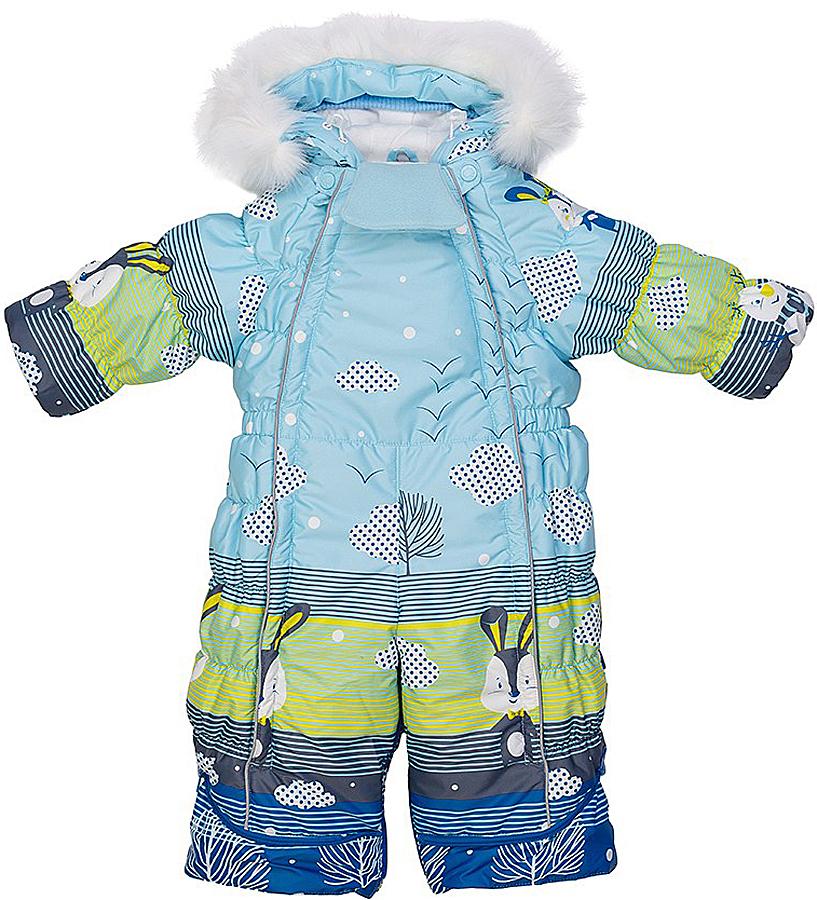 Комбинезон-трансформер для мальчика Oldos Леви, цвет: голубой, синий, зеленый. 1O7OV06. Размер 86, 1,5 года1O7OV06Зимний комбинезон-трансформер для мальчика Oldos Леви идеально подойдет для вашего малыша в холодное время года. Комбинезон изготовлен из водонепроницаемой и ветрозащитной ткани на хлопковой подкладке. Водо- и грязеотталкивающее покрытие повышает износостойкость модели, что обеспечит ей хороший внешний вид на всем протяжении носки. В качестве наполнителя используется утеплитель нового поколения HOLLOFAN 200 г/м2, который эффективно сохраняет тепло, гипоаллергенен и быстро сохнет.Комбинезон-трансформер с капюшоном застегивается на две длинные застежки-молнии, благодаря чему ребенка будет легко одевать или раздевать, не тревожа его сон. Молнии зафиксированы сверху застежками-кнопками. Капюшон не отстегивается и оформлен съемной меховой опушкой. Капюшон регулируется в объеме. В области подбородка есть съемный мягкий отворот для защиты от натирания и дополнительного комфорта. Низ рукавов дополнен внутренними трикотажными манжетами. Снизу брючин предусмотрены съемные эластичные штрипки, одевающиеся на ступню и не дающие брючинам задираться вверх. Благодаря удобной системе молний комбинезон можно трансформировать в конверт с рукавами.Изделие имеет светоотражающие элементы.Изнутри комбинезон дополнен подстежкой из овечьей шерсти на застежке-молнии, которую можно легко отстегнуть. В комплект с комбинезоном входят рукавички на кнопках и пинетки, также пристегивающиеся к брючинам с помощью кнопок. В пинетках есть меховая подкладка в зоне стопы.Пока ребенок маленький - удобно использовать в виде конверта, а когда подрастет - носить полноценный комбинезон.Рекомендуемый температурный режим от 0°C до -35°C.В таком комбинезоне вашему ребенку всегда будет тепло, комфортно и уютно!