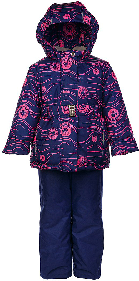 Комплект для девочки Jicco By Oldos Наума: куртка и полукомбинезон, цвет: синий, ярко-розовый. 1J7SU04-2. Размер 116, 6 лет1J7SU04-2Практичный и износостойкий зимний костюм для девочки. Внешняя ткань с водо-грязеотталкивающей пропиткой защитит от непогоды. Гипоаллергенный утеплитель нового поколения HOLLOFAN плотностью 300/150 г/м2 сохраняет тепло и быстро сохнет. Подкладка-флис, в рукавах и брючинах - гладкий полиэстер. Капюшон слитный, карманы на молнии, пояс. Изделие прекрасно защитит от ветра и мороза, т.к. имеет ряд особенностей: воротник-стойка с флисовой вставкой, двойная ветрозащитная планка с защитой подбородка. Рукава с отворотом и внутренней трикотажной саморегулирующейся манжетой. Полукомбинезон с широкими эластичными регулируемыми по длине подтяжками, по талии вшита резинка для прилегания. Изделие имеет светоотражающие элементы. Рекомендовано от 0°С до минус 30°С.