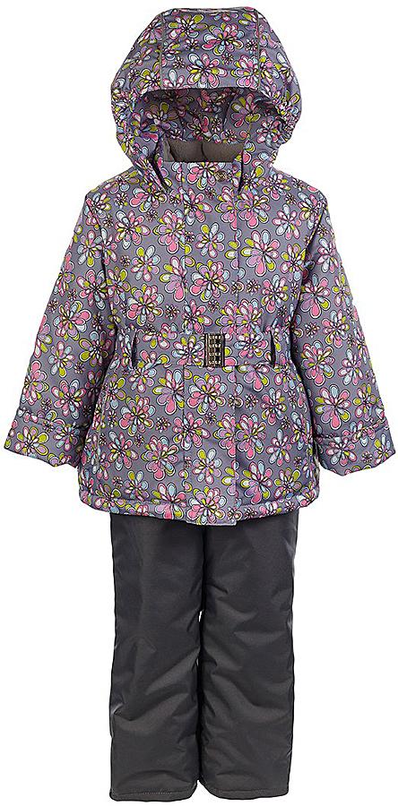 Комплект для девочки Jicco By Oldos Теона: куртка и полукомбинезон, цвет: розовый, серый. 1J7SU06-1. Размер 110, 5 лет1J7SU06-1Практичный и износостойкий зимний костюм для девочки. Внешняя ткань с водо-грязеотталкивающей пропиткой защитит от непогоды. Гипоаллергенный утеплитель нового поколения HOLLOFAN плотностью 300/150 г/м2 сохраняет тепло и быстро сохнет. Подкладка-флис, в рукавах и брючинах - гладкий полиэстер. Капюшон слитный, карманы на молнии, пояс. Изделие прекрасно защитит от ветра и мороза, т.к. имеет ряд особенностей: воротник-стойка с флисовой вставкой, двойная ветрозащитная планка с защитой подбородка. Рукава с отворотом и внутренней трикотажной саморегулирующейся манжетой. Полукомбинезон с широкими эластичными регулируемыми по длине подтяжками, по талии вшита резинка для прилегания. Изделие имеет светоотражающие элементы. Рекомендовано от 0°С до минус 30°С.