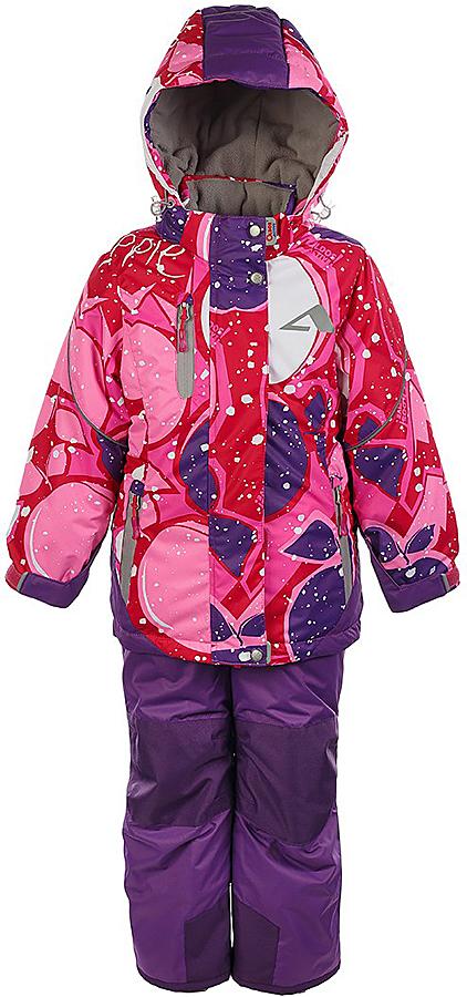 Комплект для девочки Oldos Active Лора: куртка и брюки, цвет: розовый, фиолетовый. 1A7SU03-2. Размер 122, 7 лет1A7SU03-2Практичный зимний костюм: куртка и брюки со спинкой. Внешнее покрытие TEFLON - защита от воды и грязи, износостойкость, за изделием легко ухаживать. Мембрана 5000/5000 обеспечивает водонепроницаемость, одежда дышит. Гипоаллергенный утеплитель HOLLOFAN PRO 200/150 г/м2 - эффективно удерживает тепло и дарит свободу движения. Подкладка - флис, в рукавах и брючинах – гладкий полиэстер. Карманы на молнии, внутренний карман с нашивкой-потеряшкой. Костюм имеет светоотражающие элементы. Изделие прекрасно защитит от ветра и снега, т.к. имеет ряд особенностей. В куртке: съемный капюшон с регулировкой объема, воротник-стойка, ветрозащитные планки, снего-ветрозащитная юбка. Манжеты на рукавах регулируются по ширине, есть эластичные манжеты с отверстием для большого пальца. Низ куртки регулируется по ширине. В брюках: широкие эластичные регулируемые подтяжки, карманы, усиления в местах износа, снего-ветрозащитные муфты. Спинка и подтяжки отстегиваются. Рекомендовано от минус 30°С до плюс 5°С.