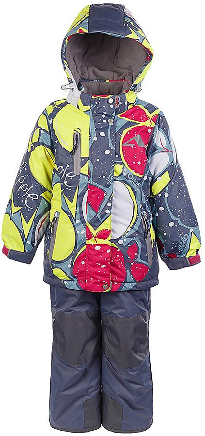 Комплект для девочки Oldos Active Лора: куртка и полукомбинезон, цвет: серый, вишневый. 1A7SU03. Размер 104, 4 года1A7SU03Практичный зимний костюм OLDOS ACTIVE Лора состоит из куртки и полукомбинезона. Внешнее покрытие TEFLON - защита от воды и грязи, износостойкость, за изделием легко ухаживать. Мембрана 5000/5000 обеспечивает водонепроницаемость, одежда дышит. Гипоаллергенный утеплитель HOLLOFAN PRO 200/150 г/м2 - эффективно удерживает тепло и дарит свободу движения. Подкладка - флис, в рукавах и брючинах – гладкий полиэстер. Карманы на молнии, внутренний карман с нашивкой-потеряшкой. Полукомбинезон приталенный. Костюм имеет светоотражающие элементы. Изделие прекрасно защитит от ветра и снега, т.к. имеет ряд особенностей. В куртке: съемный капюшон с регулировкой объема, воротник-стойка, ветрозащитные планки, снего-ветрозащитная юбка. Манжеты на рукавах регулируются по ширине, есть эластичные манжеты с отверстием для большого пальца. Низ куртки регулируется по ширине. В полукомбинезоне: широкие эластичные регулируемые подтяжки, карманы, усиления в местах износа, снего-ветрозащитные муфты. Рекомендовано от минус 30°С до плюс 5°С.