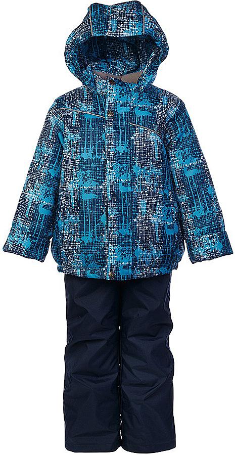 Комплект для мальчика Jicco By Oldos Джед: куртка и полукомбинезон, цвет: темно-синий, голубой. 1J7SU07-2. Размер 128, 8 лет1J7SU07-2Практичный и износостойкий зимний костюм для мальчика. Внешняя ткань с водо-грязеотталкивающей пропиткой защитит от непогоды. Гипоаллергенный утеплитель нового поколения HOLLOFAN плотностью 300/150 г/м2 сохраняет тепло и быстро сохнет. Подкладка-флис, в рукавах и брючинах - гладкий полиэстер. Капюшон слитный, карманы на молнии. Изделие прекрасно защитит от ветра и мороза, т.к. имеет ряд особенностей: воротник-стойка с флисовой вставкой, двойная ветрозащитная планка с защитой подбородка. Рукава с отворотом и внутренней трикотажной саморегулирующейся манжетой. Полукомбинезон с широкими эластичными регулируемыми по длине подтяжками, по талии вставлена резинка для прилегания. Изделие имеет светоотражающие элементы. Рекомендовано от 0°С до минус 30°С.