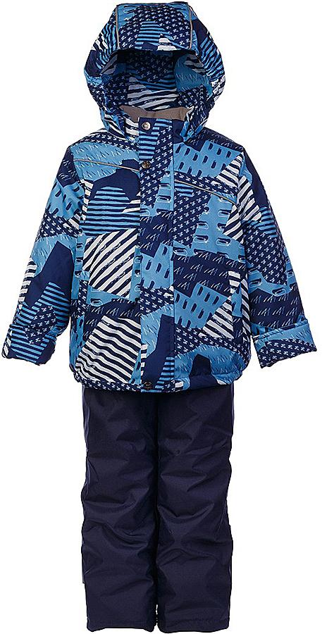 Комплект для мальчика Jicco By Oldos Кирус: куртка и полукомбинезон, цвет: синий, голубой. 1J7SU08-2. Размер 122, 7 лет1J7SU08-2Практичный и износостойкий зимний костюм для мальчика. Внешняя ткань с водо-грязеотталкивающей пропиткой защитит от непогоды. Гипоаллергенный утеплитель нового поколения HOLLOFAN плотностью 300/150 г/м2 сохраняет тепло и быстро сохнет. Подкладка-флис, в рукавах и брючинах - гладкий полиэстер. Капюшон слитный, карманы на молнии. Изделие прекрасно защитит от ветра и мороза, т.к. имеет ряд особенностей: воротник-стойка с флисовой вставкой, двойная ветрозащитная планка с защитой подбородка. Рукава с отворотом и внутренней трикотажной саморегулирующейся манжетой. Полукомбинезон с широкими эластичными регулируемыми по длине подтяжками, по талии вставлена резинка для прилегания. Изделие имеет светоотражающие элементы. Рекомендовано от 0°С до минус 30°С.