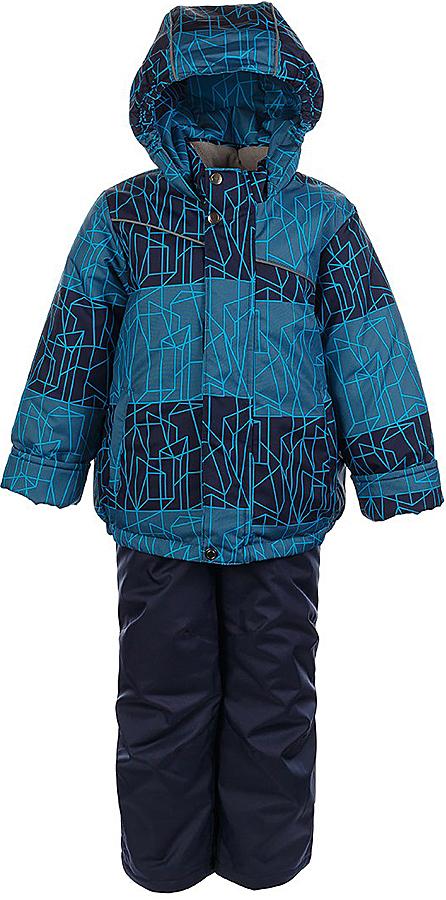 Комплект для мальчика Jicco By Oldos Сэм: куртка и полукомбинезон, цвет: синий, голубой. 1J7SU09-2. Размер 134, 9 лет1J7SU09-2Практичный и износостойкий зимний костюм для мальчика. Внешняя ткань с водо-грязеотталкивающей пропиткой защитит от непогоды. Гипоаллергенный утеплитель нового поколения HOLLOFAN плотностью 300/150 г/м2 сохраняет тепло и быстро сохнет. Подкладка-флис, в рукавах и брючинах - гладкий полиэстер. Капюшон слитный, карманы на молнии. Изделие прекрасно защитит от ветра и мороза, т.к. имеет ряд особенностей: воротник-стойка с флисовой вставкой, двойная ветрозащитная планка с защитой подбородка. Рукава с отворотом и внутренней трикотажной саморегулирующейся манжетой. Полукомбинезон с широкими эластичными регулируемыми по длине подтяжками, по талии вставлена резинка для прилегания. Изделие имеет светоотражающие элементы. Рекомендовано от 0°С до минус 30°С.