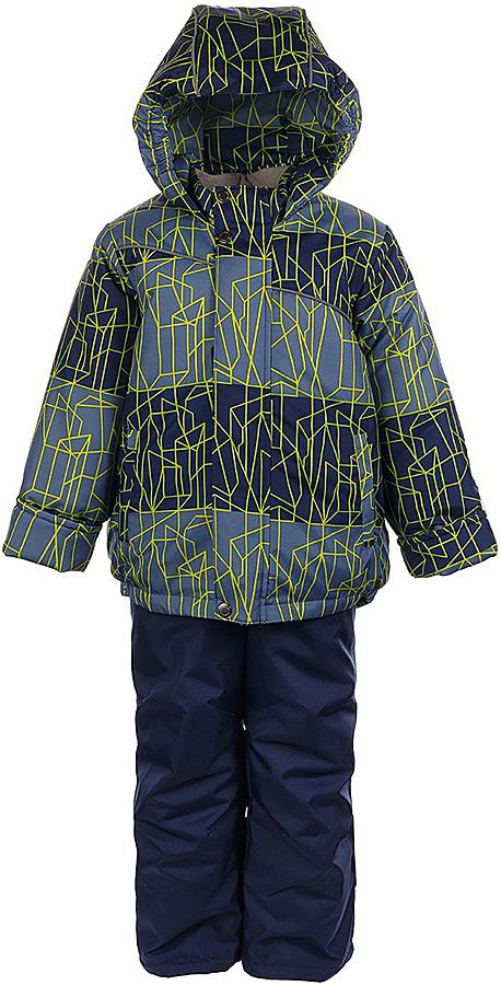 Комплект для мальчика Jicco By Oldos Сэм: куртка и полукомбинезон, цвет: синий, салатовый. 1J7SU09-2. Размер 128, 8 лет1J7SU09-2Практичный и износостойкий зимний костюм для мальчика. Внешняя ткань с водо-грязеотталкивающей пропиткой защитит от непогоды. Гипоаллергенный утеплитель нового поколения HOLLOFAN плотностью 300/150 г/м2 сохраняет тепло и быстро сохнет. Подкладка-флис, в рукавах и брючинах - гладкий полиэстер. Капюшон слитный, карманы на молнии. Изделие прекрасно защитит от ветра и мороза, т.к. имеет ряд особенностей: воротник-стойка с флисовой вставкой, двойная ветрозащитная планка с защитой подбородка. Рукава с отворотом и внутренней трикотажной саморегулирующейся манжетой. Полукомбинезон с широкими эластичными регулируемыми по длине подтяжками, по талии вставлена резинка для прилегания. Изделие имеет светоотражающие элементы. Рекомендовано от 0°С до минус 30°С.