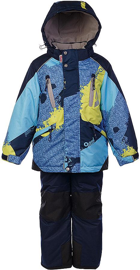 Комплект для мальчика Oldos Active Вилсон: куртка и брюки, цвет: синий меланж, голубой. 1A7SU11-2. Размер 122, 7 лет1A7SU11-2Технологичный зимний костюм: куртка и брюки со спинкой. Внешнее покрытие TEFLON - защита от воды и грязи, износостойкость, за изделием легко ухаживать. Мембрана 5000/5000 обеспечивает водонепроницаемость, одежда дышит. Гипоаллергенный утеплитель HOLLOFAN PRO 200/150 г/м2 - эффективно удерживает тепло и дарит свободу движения. Подкладка - флис, в рукавах и брючинах – гладкий полиэстер. Карманы на молнии, внутренний карман с нашивкой-потеряшкой. Костюм имеет светоотражающие элементы. Изделие прекрасно защитит от ветра и снега, т.к. имеет ряд особенностей. В куртке: съемный капюшон с регулировкой объема, воротник-стойка, ветрозащитные планки, снего-ветрозащитная юбка. Манжеты на рукавах регулируются по ширине, есть эластичные манжеты с отверстием для большого пальца. Низ куртки регулируется по ширине. В брюках: широкие эластичные регулируемые подтяжки, карманы, усиления в местах износа, снего-ветрозащитные муфты. Спинка и подтяжки отстегиваются. Рекомендовано от минус 30°С до плюс 5°С.