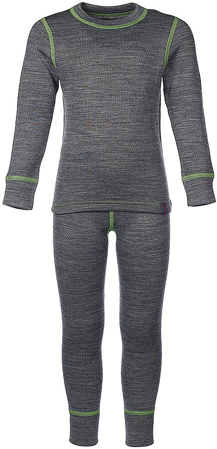 Комплект термобелья для девочки Oldos Active Warm Plus: футболка с длинным рукавом, леггинсы, цвет: светло-серый меланж, мятный. 003ДН. Размер 116, 6 лет003ДНКомплект термобелья для девочки Oldos Active Warm Plus состоит из футболки с длинным рукавом и леггинсов. Комплект изготовлен из трехслойного полотна, представляющего собой вязаную ткань многослойного плетения TermoActive. Комбинация натуральных и синтетических слоев позволяет максимально сохранить тепло и при этом отвести избыточную влагу. Плоские швы изделия не вызывают раздражений. Изнаночная сторона модели с теплым и мягким начесом.Футболка с длинными рукавами имеет круглый вырез горловины. На рукавах предусмотрены манжеты. Эластичный пояс на леггинсах обеспечивает комфортную посадку изделия на фигуре. Брючины дополнены широкими манжетами. Комплект оформлен контрастной прострочкой.Трехслойное термобелье Oldos Active снижает теплопотери организма в холодную погоду, добавляет ощущение комфорта, защищает организм от перегрева во время физических нагрузок. Термобелье может применяться при активном отдыхе, а также при повседневной носке. Рекомендуемый температурный режим от -5°С до -45°С.