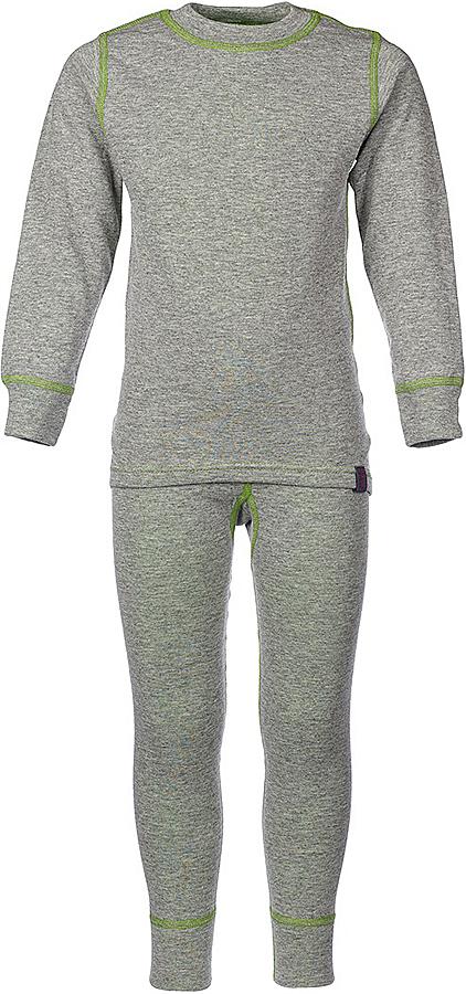 Комплект термобелья для девочки Oldos Active Warm: футболка с длинным рукавом, леггинсы, цвет: светло-серый, лайм. 002ДН. Размер 140, 10 лет002ДНКомплект термобелья для девочки Oldos Active Warm состоит из футболки с длинным рукавом и леггинсов. Комплект изготовлен из двухслойного полотна, представляющий собой цельно вязаную ткань с различным составом нитей на лицевой и изнаночной сторонах. Синтетический слой внутри быстро и эффективно отводит влагу, а хлопок и шерсть снаружи сохраняют тепло. Плоские швы изделия не вызывают раздражений. Изнаночная сторона контрастного цвета.Футболка с длинными рукавами и круглым вырезом горловины имеет удлиненную спинку. На рукавах предусмотрены манжеты. Эластичный пояс на леггинсах обеспечивает комфортную посадку изделия на фигуре. Брючины дополнены широкими манжетами. Комплект оформлен контрастной прострочкой.Двухслойное термобелье снижает теплопотери организма в холодную погоду, добавляет ощущение комфорта, защищает организм от перегрева во время физических нагрузок. Термобелье может применяться при активном отдыхе, а также при повседневной носке. Рекомендуемый температурный режим от 0°С до -30°С.