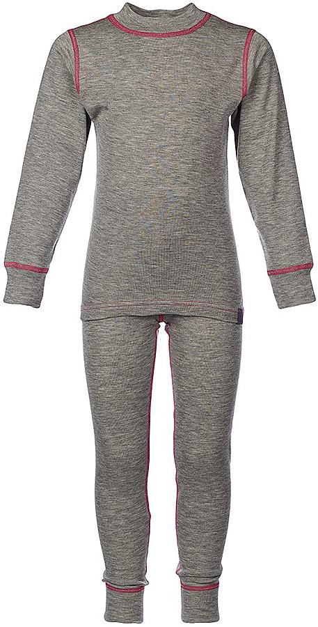 Комплект термобелья для девочки Oldos Active Warm: футболка с длинным рукавом, леггинсы, цвет: светло-серый, розовый. 002ДН. Размер 146, 11 лет002ДНКомплект термобелья для девочки Oldos Active Warm состоит из футболки с длинным рукавом и леггинсов. Комплект изготовлен из двухслойного полотна, представляющий собой цельно вязаную ткань с различным составом нитей на лицевой и изнаночной сторонах. Синтетический слой внутри быстро и эффективно отводит влагу, а хлопок и шерсть снаружи сохраняют тепло. Плоские швы изделия не вызывают раздражений. Изнаночная сторона контрастного цвета.Футболка с длинными рукавами и круглым вырезом горловины имеет удлиненную спинку. На рукавах предусмотрены манжеты. Эластичный пояс на леггинсах обеспечивает комфортную посадку изделия на фигуре. Брючины дополнены широкими манжетами. Комплект оформлен контрастной прострочкой.Двухслойное термобелье снижает теплопотери организма в холодную погоду, добавляет ощущение комфорта, защищает организм от перегрева во время физических нагрузок. Термобелье может применяться при активном отдыхе, а также при повседневной носке. Рекомендуемый температурный режим от 0°С до -30°С.