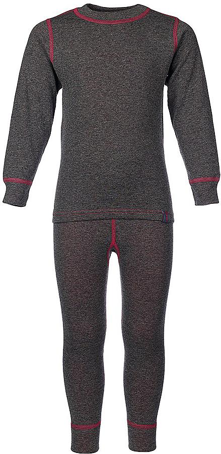 Комплект термобелья для девочки Oldos Active Warm: футболка с длинным рукавом, леггинсы, цвет: темно-серый, розовый. 002ДН. Размер 152, 12 лет002ДНКомплект термобелья для девочки Oldos Active Warm состоит из футболки с длинным рукавом и леггинсов. Комплект изготовлен из двухслойного полотна, представляющий собой цельно вязаную ткань с различным составом нитей на лицевой и изнаночной сторонах. Синтетический слой внутри быстро и эффективно отводит влагу, а хлопок и шерсть снаружи сохраняют тепло. Плоские швы изделия не вызывают раздражений. Изнаночная сторона контрастного цвета.Футболка с длинными рукавами и круглым вырезом горловины имеет удлиненную спинку. На рукавах предусмотрены манжеты. Эластичный пояс на леггинсах обеспечивает комфортную посадку изделия на фигуре. Брючины дополнены широкими манжетами. Комплект оформлен контрастной прострочкой.Двухслойное термобелье снижает теплопотери организма в холодную погоду, добавляет ощущение комфорта, защищает организм от перегрева во время физических нагрузок. Термобелье может применяться при активном отдыхе, а также при повседневной носке. Рекомендуемый температурный режим от 0°С до -30°С.
