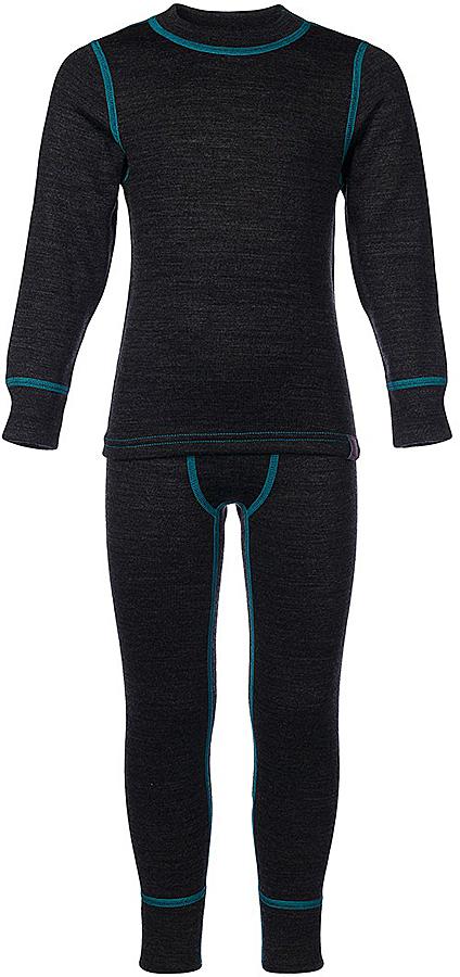 Комплект термобелья для мальчика Oldos Active Warm Plus: футболка с длинным рукавом, кальсоны, цвет: темно-серый меланж, бирюза. 003МН. Размер 146, 11 лет003МНКомплект термобелья для мальчика Oldos Active Warm Plus, состоящий из футболки с длинным рукавом и кальсон, предназначен для сохранения тепла и отвода влаги с поверхности тела. Термобелье отличается от обычного белья лучшей способностью сохранять тепло между кожей и тканью, вдобавок оно более эластичное, благодаря чему, оно не стесняет движений, не деформируется и служит дольше. Содержащийся в термобелье воздух, соприкасаясь с телом, нагревается до комфортной температуры. Таким образом, создается защитная прослойка из теплого воздуха между кожей и холодной внешней средой. При физической нагрузке кожа ребенка выделяет влагу, которая накапливаясь в ткани обычного белья, снижает его теплосберегающие свойства. На согревание и испарение этой влаги расходуется дополнительная энергия. Термобелье отводит влагу от тела. Защитная прослойка из теплого воздуха между кожей и внешней средой за счет разницы давления выталкивает влагу из термобелья. Это снижает теплопотери организма в холодную погоду, добавляет ощущение комфорта, защищает организм от перегрева во время физических нагрузок, а также от переохлаждения и простуды после их окончания. Трехслойное полотно - это цельно вязаная ткань многослойного плетения TermoActive. Кофта с длинными рукавами и круглым вырезом горловины. Рукава дополнены широкими трикотажными манжетами. Горловина дополнена трикотажной резинкой. Кальсоны на талии имеют широкую эластичную резинку, а брючины дополнены широкими трикотажными манжетами. Лицевая сторона гладкая, а изнаночная - с мягким теплым начесом. Комплект термобелья используется как для повседневной носки, так и для активного отдыха. Рекомендуемый температурный режим от -5°С до -45°С. Такой комплект термобелья идеально подойдет для прогулок и игр на свежем воздухе!