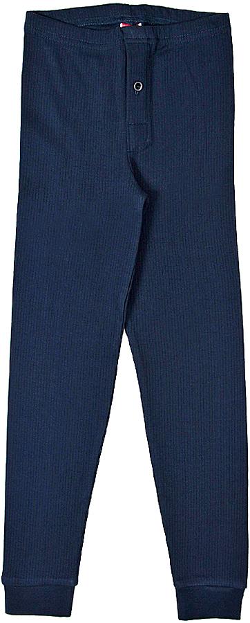 термобелье брюки для мальчика Cherubino, цвет: темно-синий. CWJ 1041. Размер 140CWJ 1041Кальсоны для мальчика, из плотного хлопкового трикотажа в рубчик.