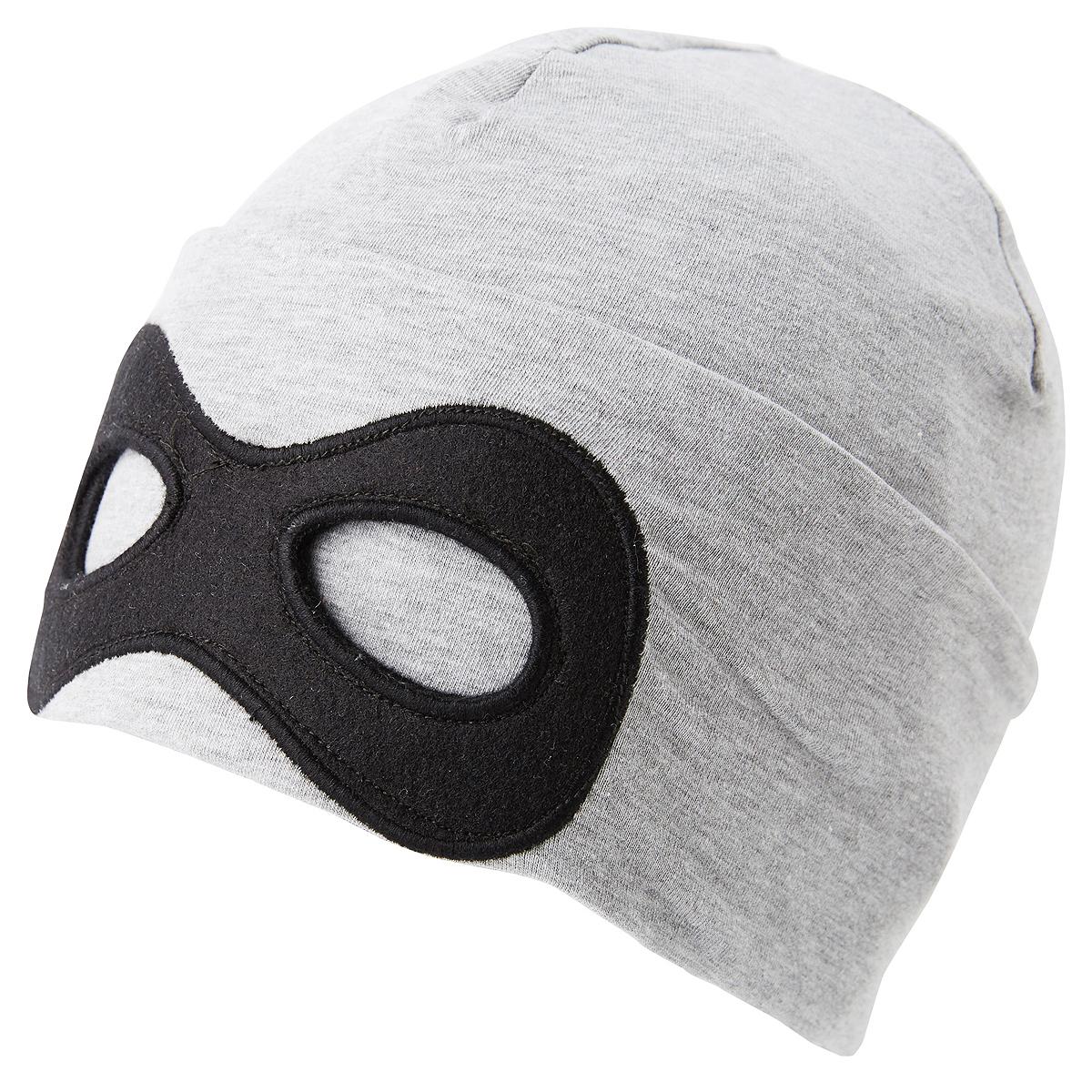 Шапка для мальчика Tom Tailor, цвет: серый. 0221631.00.82_2482. Размер 54/560221631.00.82_2482Шапка для мальчика от Tom Tailor выполнена из эластичного хлопкового трикотажа с добавлением вискозы. Спереди шапка оформлена имитацией маски.