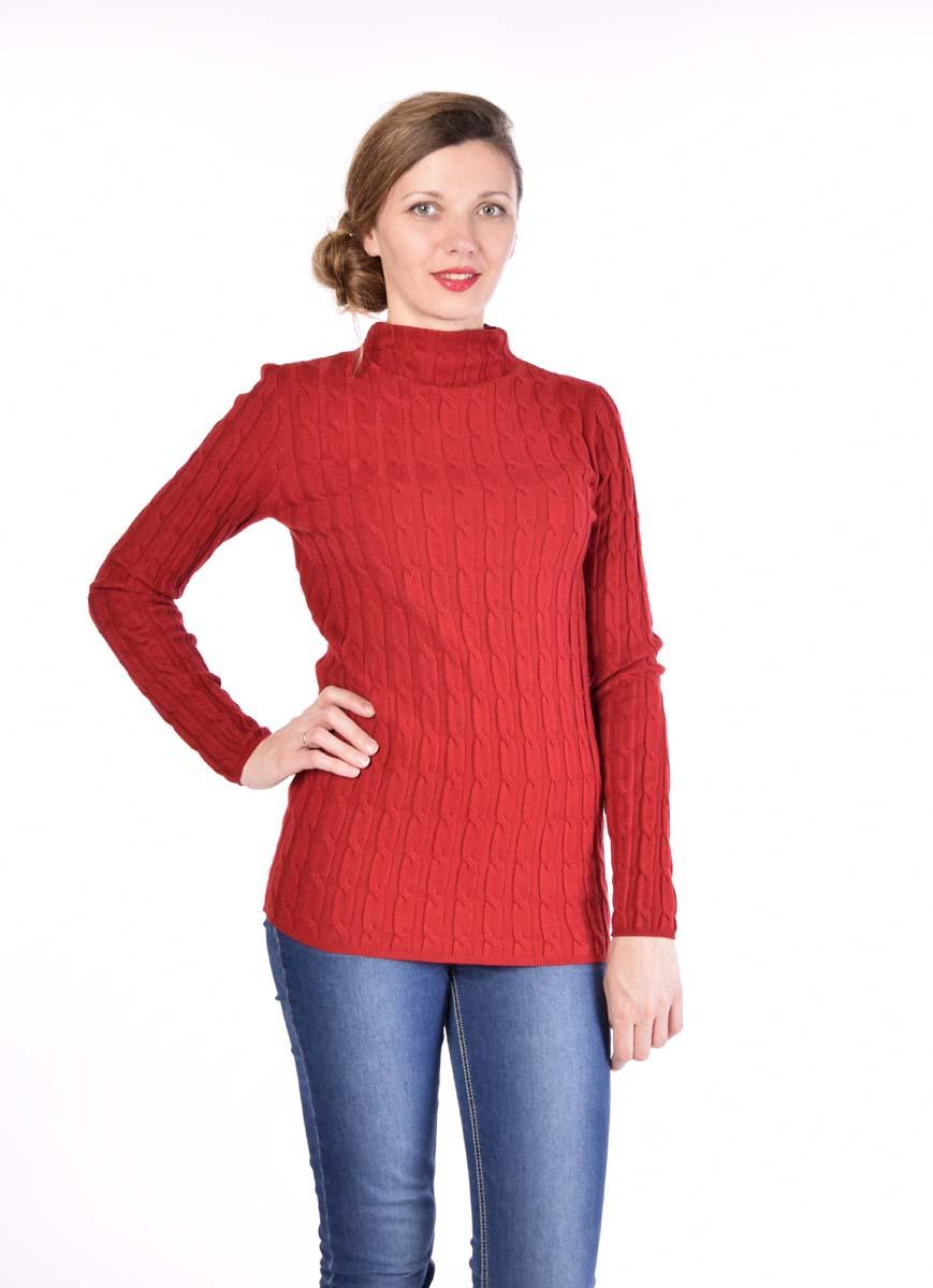 Водолазка женская Pettli Collection, цвет: красный. 14514. Размер 50/5214514