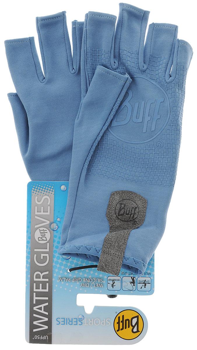 Перчатки рыболовные Buff Sport Water Glacier Blue, цвет: светло-голубой. 15216. Размер M/L (7,5-8)Sport Water Glacier BlueТехнологичные рыболовные перчатки. Полностью с закрытыми пальцами. Выполнены из стрейтчевой ткани, комфортно облегающей кисть руки. Ладонь перчатки покрыта силиконовым принтом. Фактор защиты от солнца UPF 50+. Удлиненная манжета. Состав: 95% нейлон, 5% лайкра; принт на ладони: 100% силикон, трикотаж.