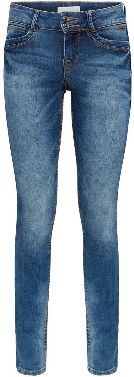Джинсы женские Tom Tailor, цвет: синий. 6205814.09.71_1052. Размер 27-32 (42/44-32)6205814.09.71_1052Женские джинсы Tom Tailor с эффектом потертости ткани и перманентными складками. Модель зауженного кроя и низкой посадки в поясе застегивается на две пуговицы, имеются ширинка на молнии и шлевки для ремня. Джинсы имеют классический пятикарманный крой.
