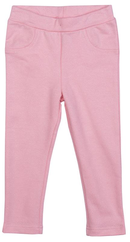 Брюки для девочки PlayToday, цвет: светло-розовый. 378060. Размер 86378060Трикотажные брюки PlayToday всегда актуальны в повседневном гардеробе ребенка. Модель на широкой резинке, изнутри регулируется по ширине талии за счет пуговицы. Брюки дополнены задними накладными карманами и имитацией передних.