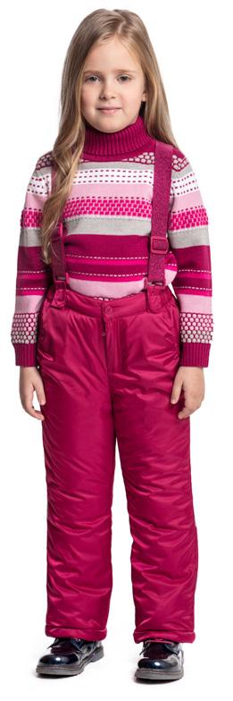 Брюки утепленные для девочки PlayToday, цвет: фуксия. 372006. Размер 98372006Утепленные брюки PlayToday выполнены из водонепроницаемой ткани. Регулируемые лямки на липучках, при необходимости их можно отстегнуть. Пояс на широкой резинке. Брюки застегиваются на молнию и кнопку. Низ штанин на регулируемых шнурах-кулисках. Светоотражатели обеспечат видимость ребенка в темное время суток. Брюки с втачными карманами.