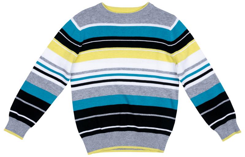 Джемпер для мальчика PlayToday, цвет: серый, синий, желтый, голубой, белый. 371107. Размер 98371107