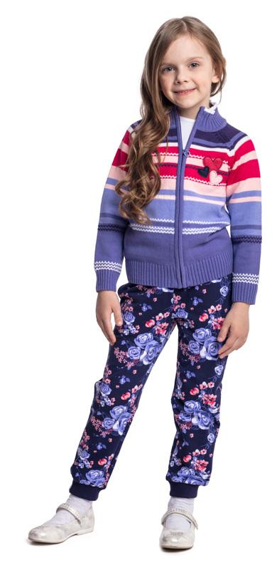 Кофта для девочки PlayToday, цвет: сиреневый, розовый. 372058. Размер 116372058Удобная кофта на молнии - отличное решение для повседневного гардероба ребенка. Горловина, низ и манжеты на мягких трикотажных резинках. Модель выполнена по технологии Yarn Dyed - в процессе производства используются разного цвета нити. При правильном уходе изделие не линяет и надолго остается в исходном виде.