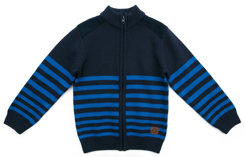 Кардиган для мальчика PlayToday, цвет: темно-синий, голубой. 371160. Размер 98371160