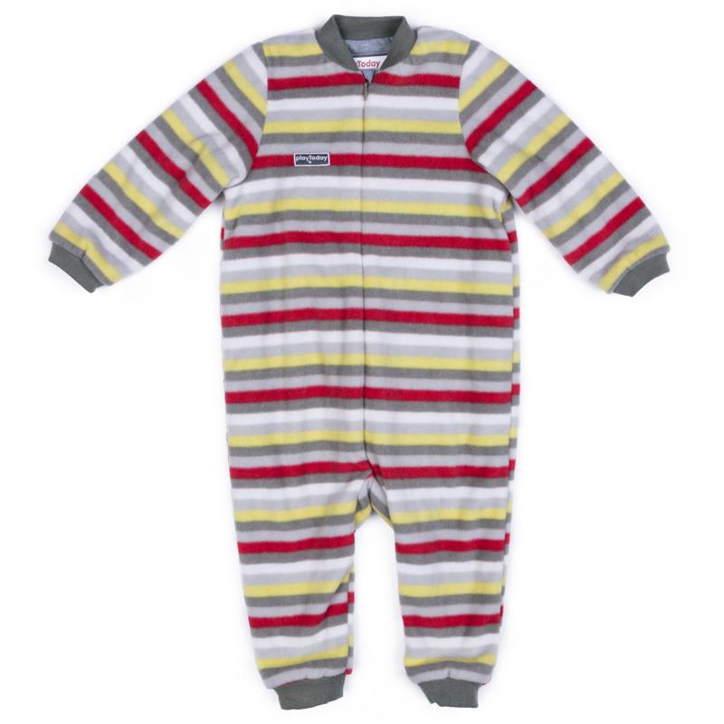 Комбинезон детский для мальчика PlayToday, цвет: серый, светло-серый, бежевый, красный, желтый. 377803. Размер 56377803