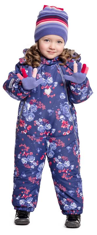 Комбинезон утепленный для девочки PlayToday, цвет: фиолетовый, сиреневый. 378003. Размер 74378003Яркий утепленный комбинезон PlayToday - отличное решение для промозглой погоды. Асимметричное расположение молний позволит быстро снимать и одевать данное изделие. Светоотражатели обеспечат видимость ребенка в темное время суток. Низ штанин дополнен регулируемыми штрипками, которые при необходимости можно отстегнуть. Комбинезон с вшивным капюшоном, застегивается на липучку. Воротник-стойка с внутренней стороны и манжеты отделаны мягкой трикотажной резинкой для дополнительного сохранения тепла. Хлопковая подкладка комбинезона не статична и хорошо впитывает лишнюю влагу.