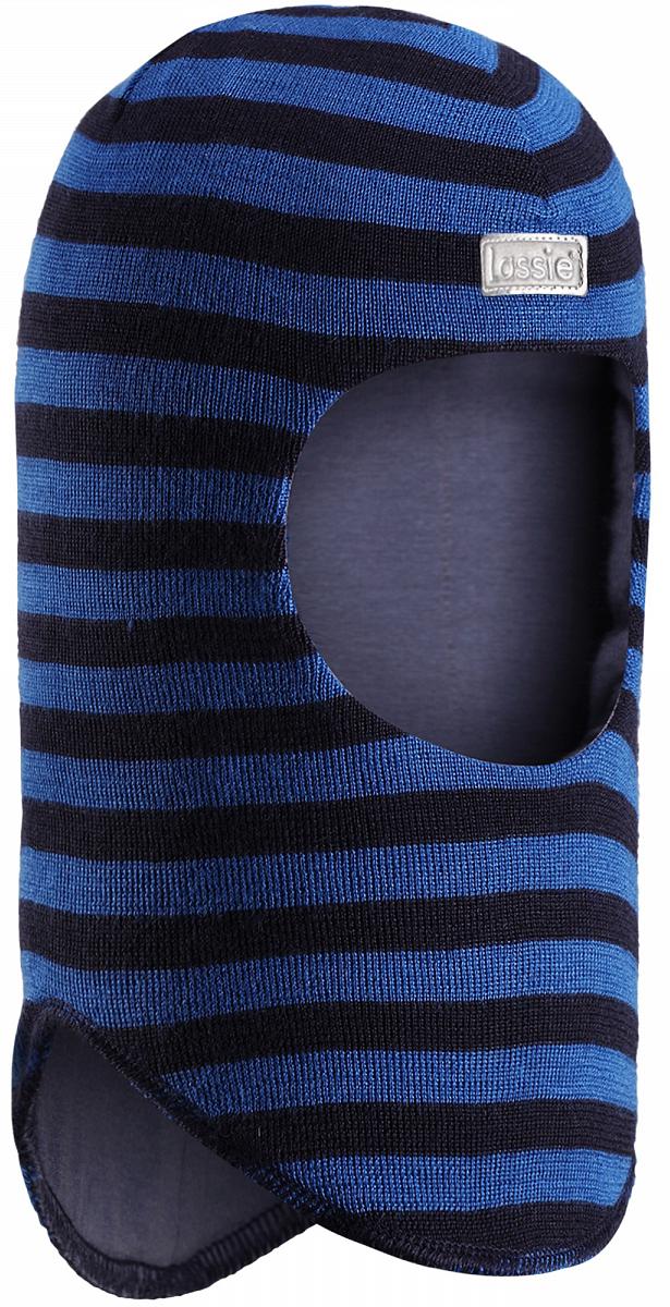 Балаклава детская Lassie, цвет: синий. 7187296961. Размер 46/487187296961Классическая балаклава Lassie для малышей и детей постарше изготовлена из нежной полушерстяной пряжи с подкладкой из мягкого и дышащего материала. Шапка с ветронепроницаемыми вставками для ушей надежно защищает лоб, уши и шею от холодного ветра. Яркий цвет в сочетании со стильными полосками создает завершенный образ. Спереди изделие дополнено светоотражающей эмблемой.Уважаемые клиенты!Размер, доступный для заказа, является обхватом головы.