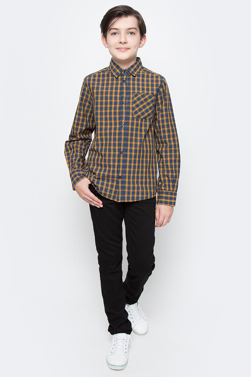 Джинсы для мальчика Tom Tailor, цвет: черный. 6205963.09.30. Размер 1406205963.09.30Детские джинсы для мальчика Tom Tailor выполнены из эластичного хлопка. Модель зауженного кроя и средней посадки в поясе застегивается на пуговицу, имеются ширинка на молнии и шлевки для ремня. Джинсы имеют классический пятикарманный крой.