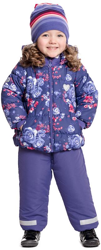 Куртка для девочки PlayToday, цвет: фиолетовый, сиреневый. 378001. Размер 74378001Утепленная куртка PlayToday, выполненная из ткани с ярким цветочным принтом и водоотталкивающей пропиткой, - отличное решение для промозглой погоды. Вшивной капюшон дополнен регулируемым шнуром-кулиской. Трикотажные резинки на горловине и манжетах для дополнительного сохранения тепла. Хлопковая подкладка хорошо впитывает лишнюю влагу. Куртка дополнена карманами на молнии. Светоотражатели обеспечат видимость ребенка в темное время суток.