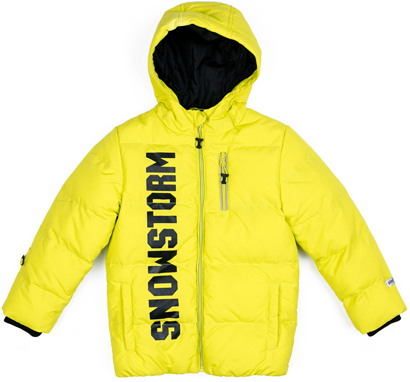 Куртка для мальчика PlayToday, цвет: желтый. 371102. Размер 122371102Теплая куртка PlayToday на молнии выполнена из плотной водонепроницаемой ткани. Специальный карман для бегунка не позволит застежке травмировать нежную кожу ребенка. Вшивной капюшон дополнен регулируемым шнуром-кулиской. Манжеты изделия на мягких трикотажных резинках. Модель с вшивными карманами. В качестве декора использован контрастный принт.