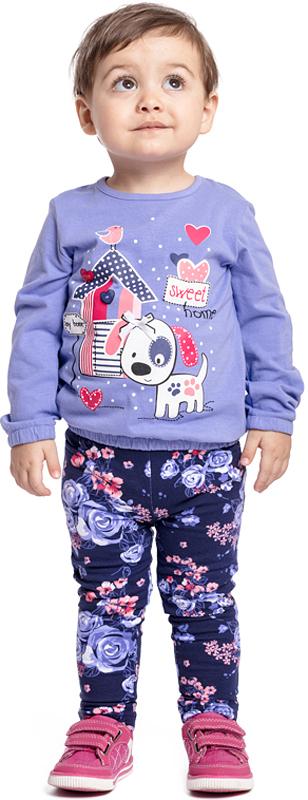 Леггинсы для девочки PlayToday, цвет: фиолетовый, сиреневый. 378028. Размер 86378028Леггинсы PlayToday отлично подойдут для повседневного гардероба ребенка. Мягкая ткань не сковывает движений ребенка. Материал не вызывает раздражений нежной детской кожи. Пояс на резинке, что не позволяет модели сползать.