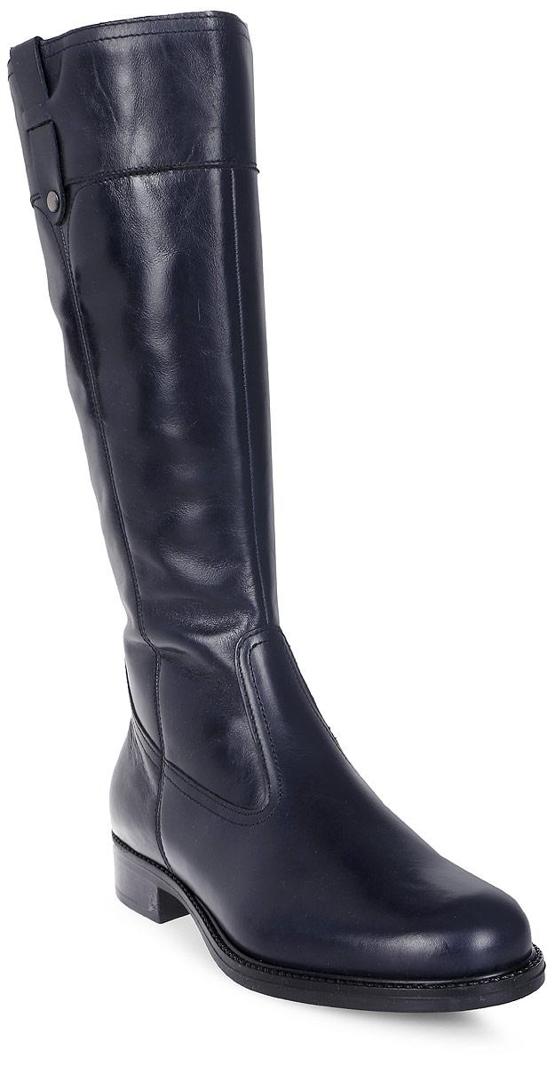 Сапоги женские Tamaris, цвет: синий. 1-1-25520-29-805/220. Размер 361-1-25520-29-805/220Стильные женские сапоги Tamaris выполнены из натуральной кожи. Подкладка и стелька из текстиля не дадут ногам замерзнуть. Застегивается модель на боковую застежку- молнию. Подошва и невысокий каблук дополнены рифлением.
