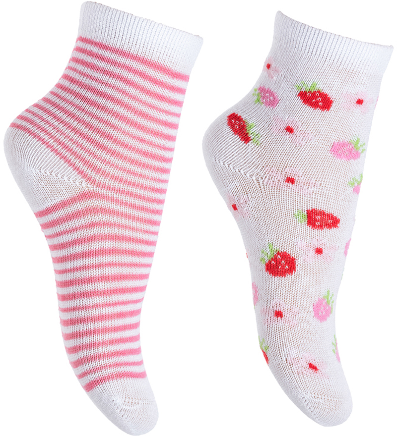 Носки для девочки PlayToday, цвет: белый, розовый, 2 пары. 378822. Размер 11378822Носки PlayToday очень мягкие, выполненные, из натуральных материалов, приятные к телу и не сковывают движений. Хорошо пропускают воздух, тем самым позволяя коже дышать. Даже частые стирки, при условии соблюдений рекомендаций по уходу, не изменят ни форму, ни цвет изделия. Мягкая резинка не сдавливает нежную детскую кожу.В комплекте 2 пары носков.